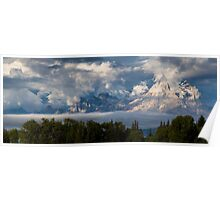 Foggy Weather on the Tetons Poster
