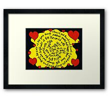 Round and round it goes... Framed Print