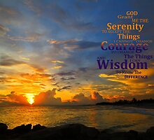 Serenity Prayer Sunset By Sharon Cummings by Sharon Cummings