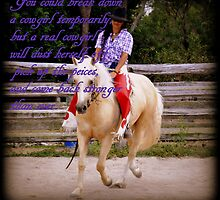 You Can't Break A Cowgirl by Barbara  Jean