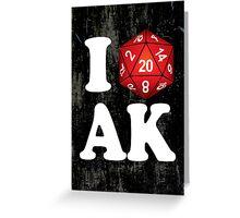 I D20 Alaska Greeting Card