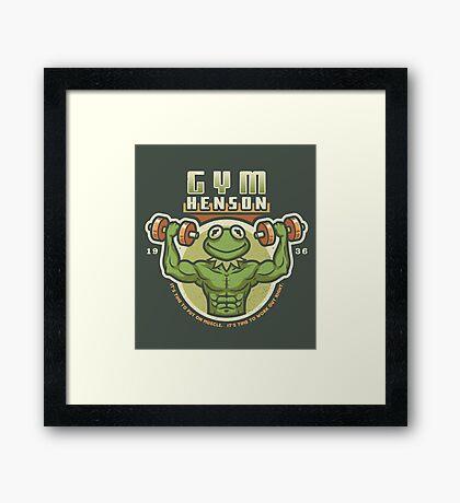 Gym Henson Framed Print