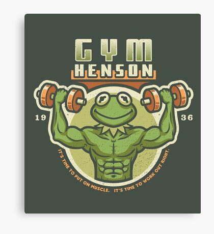 Gym Henson Canvas Print