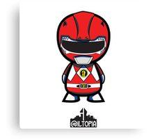 Red Power Ranger Canvas Print