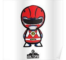 Red Power Ranger Poster