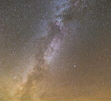 Milky Way Over Badlands by cavaroc