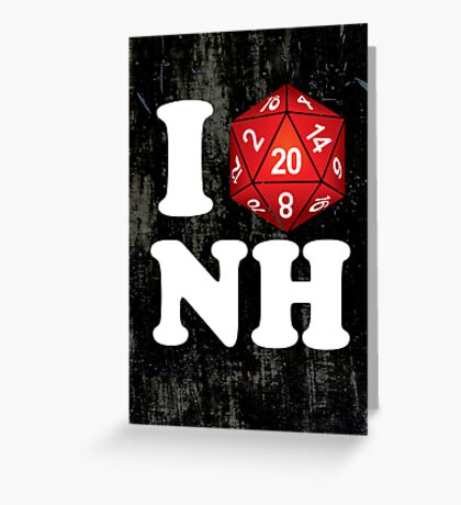 I D20 New Hampshire Greeting Card