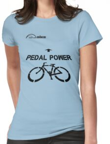 Cycling T Shirt - Pedal Power Womens Fitted T-Shirt
