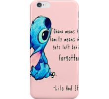 Ohana Means Family by hannahrain iPhone Case/Skin