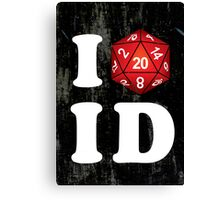 I D20 Idaho Canvas Print