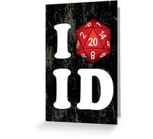 I D20 Idaho Greeting Card