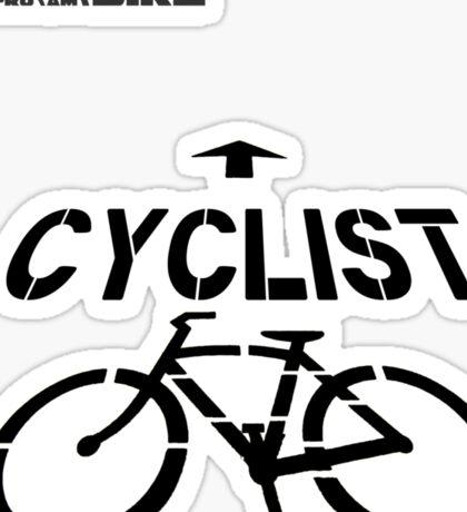 Cycling T Shirt - Cyclist Sticker