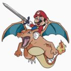 Mario x Charizard by Chris Stokes