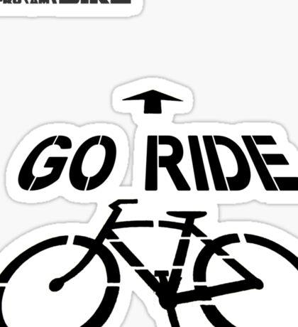 Cycling T Shirt - Go Ride Sticker