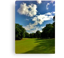 A Great Day for Golf Practice  Canvas Print