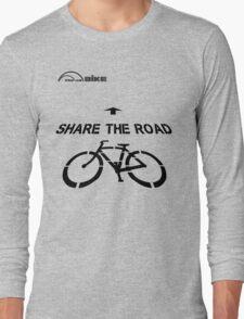 Cycling T Shirt - Share the Road Long Sleeve T-Shirt