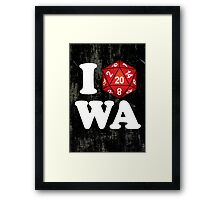 I D20 Washington Framed Print