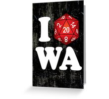 I D20 Washington Greeting Card