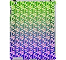 Penrose Cube - Green Purple Gradation iPad Case/Skin