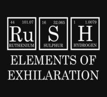 Redbubble Rush Periodic Table Tee by raineOn