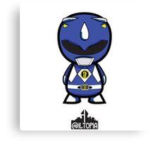Blue Power Ranger Canvas Print