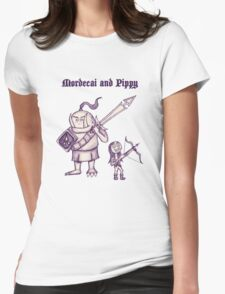 Mordecai and Pippy Womens Fitted T-Shirt