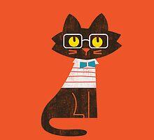 Fritz the preppy cat by Budi Kwan