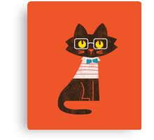 Fritz the preppy cat Canvas Print