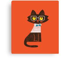 Fritz the preppy cat Canvas Print