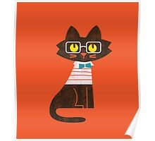 Fritz the preppy cat Poster