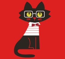 Fritz the preppy cat Kids Clothes