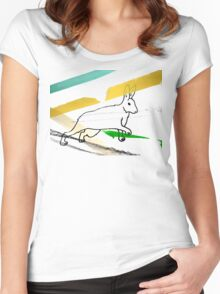 Stripes and Running Rabbit Women's Fitted Scoop T-Shirt