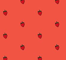 Strawberry Sticker by tosojourn