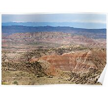 Badlands and Absaroka Mountains Poster