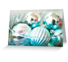 Blue Ornaments Greeting Card