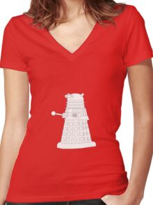 Exterminate White Women's Fitted V-Neck T-Shirt