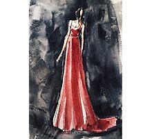 red dress fashion illustration:) Photographic Print