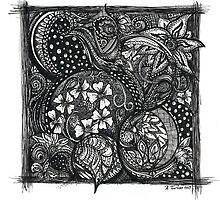 Inkie Doodle Flowers by TwistyrobDesign