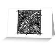 Inkie Doodle Flowers Greeting Card