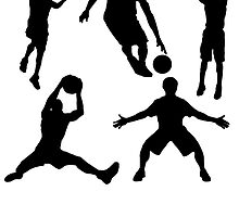 Basketball Silhouettes by kwg2200