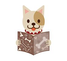 Cute dog with a catalog of bone by ankomando