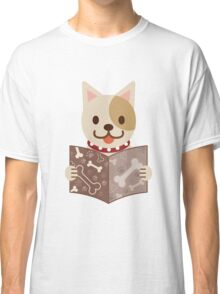 Cute dog with a catalog of bone Classic T-Shirt