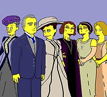 Downton Abbey - Cast of Six by Donna Huntriss