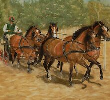 Team Work Four-in-Hand Carriage Driving by MelanieRose