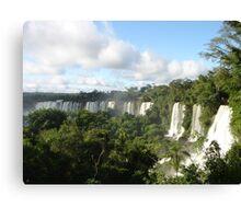 Iguazu falling Canvas Print
