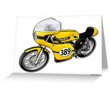 Ducati 350 illustrations by Anthony Armstrong Greeting Card