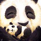 Panda hug by Petra van Berkum