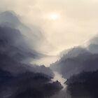The bridge in the mist by Petra van Berkum