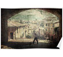 Vintage style Perugia Poster