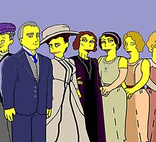 Downton Abbey - Cast of Seven by Donna Huntriss